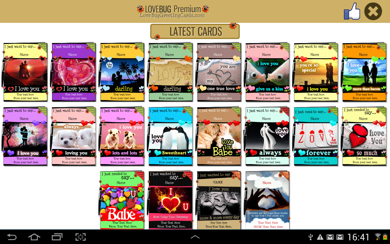 Free Valentines Greeting Cards Android Apps on Google Play – Free Textable Birthday Cards