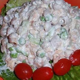Easy Salmon Whole Wheat Pasta Salad.