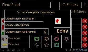 Screenshot of Chore Chart