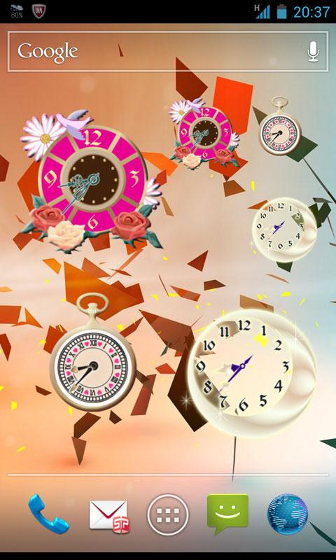 Analog clocks widget designs - screenshot