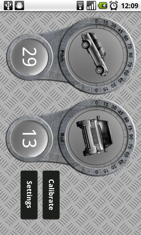 4x4 App - offroad inclinometer- screenshot