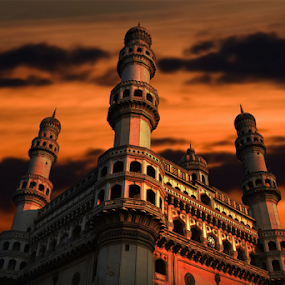 Charminar by Ananth Eswar - Buildings & Architecture Statues & Monuments ( dawn, hyderabad, alpha, alpha photography, charminar,  )