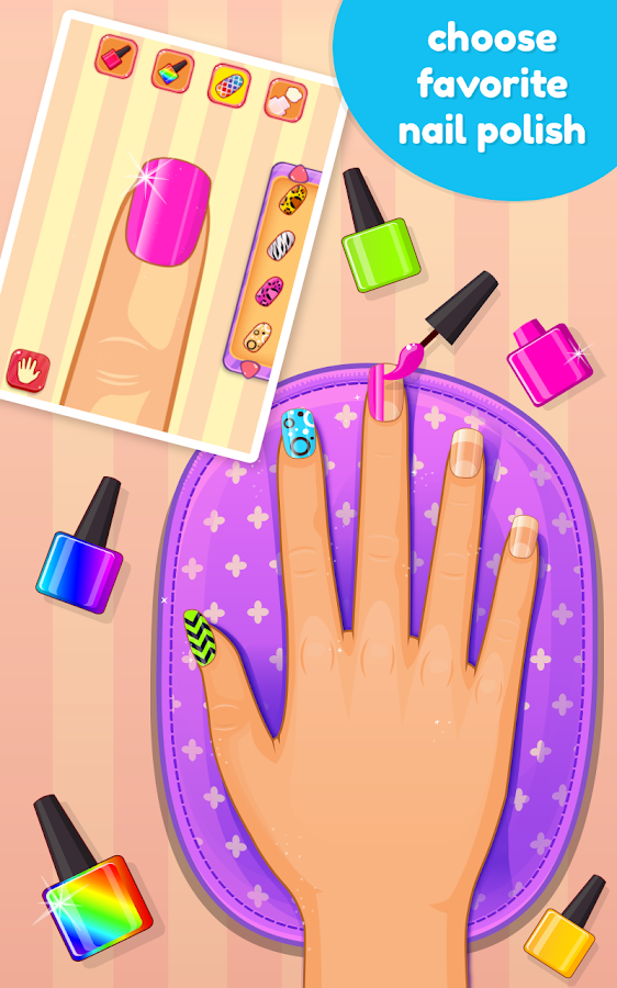 Nail art salon game android apps on google play for A nail salon game