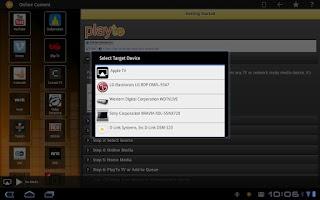 Screenshot of PlayTo