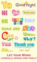 Screenshot of WordArt Chat Sticker Viber