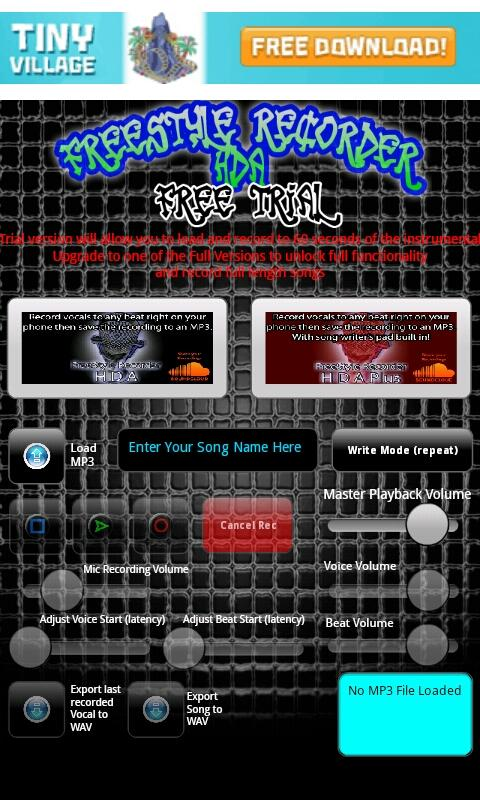 FreeStyle Recorder Tablet FREE - screenshot