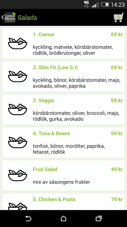 Greens & Beans- screenshot