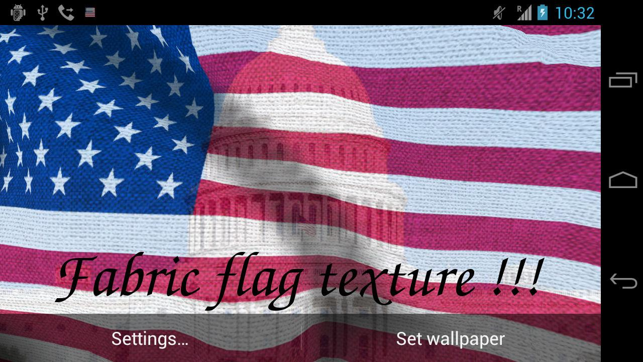 3D US Flag Live Wallpaper - screenshot