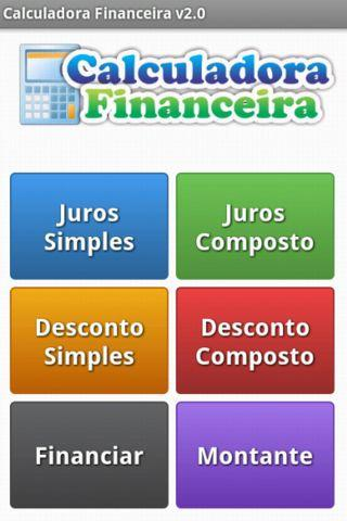 Calculadora Financeira - screenshot