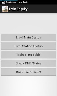 Train Enquiry, PNR, Booking - screenshot thumbnail