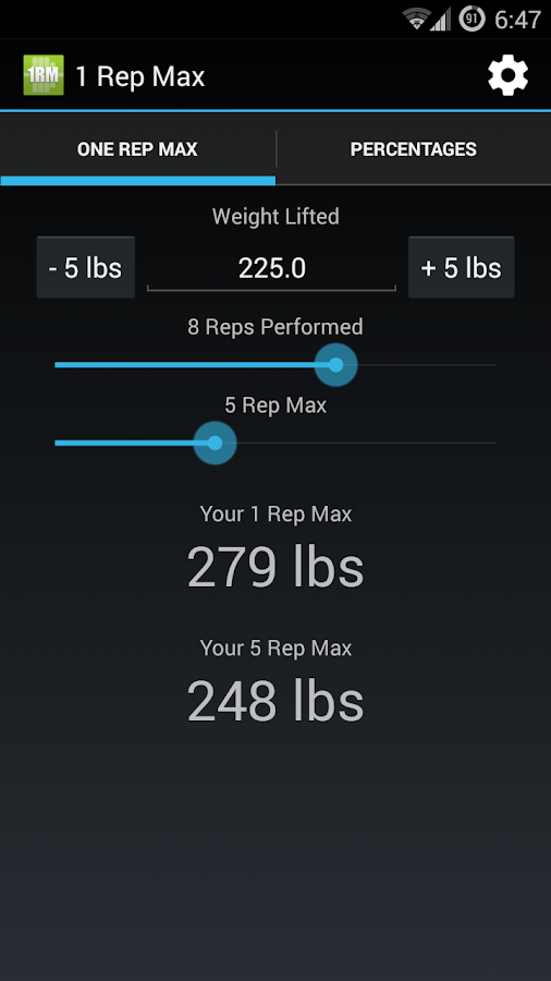 1 Rep Max Calculator - Android Apps on Google Play