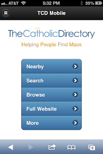 Mass Times Catholic Directory - screenshot thumbnail