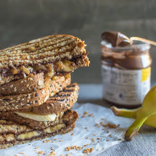 Grilled Banana Nutella Sandwich.