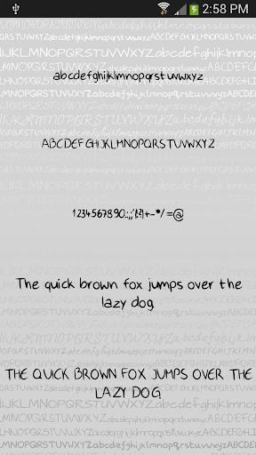 Hand3 fonts for FlipFont® free