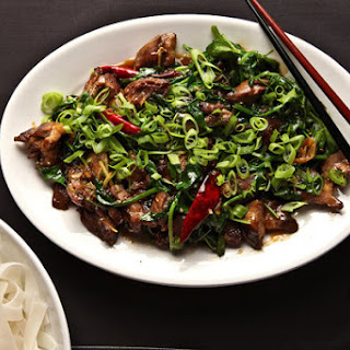 Twice-Cooked Duck With Pea Shoots