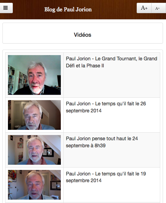 Blog de Paul Jorion- screenshot