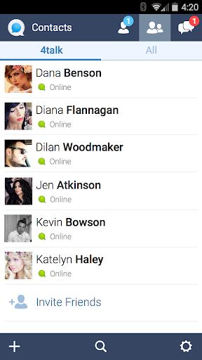 4talk Messenger 2.0.76 screenshots 4