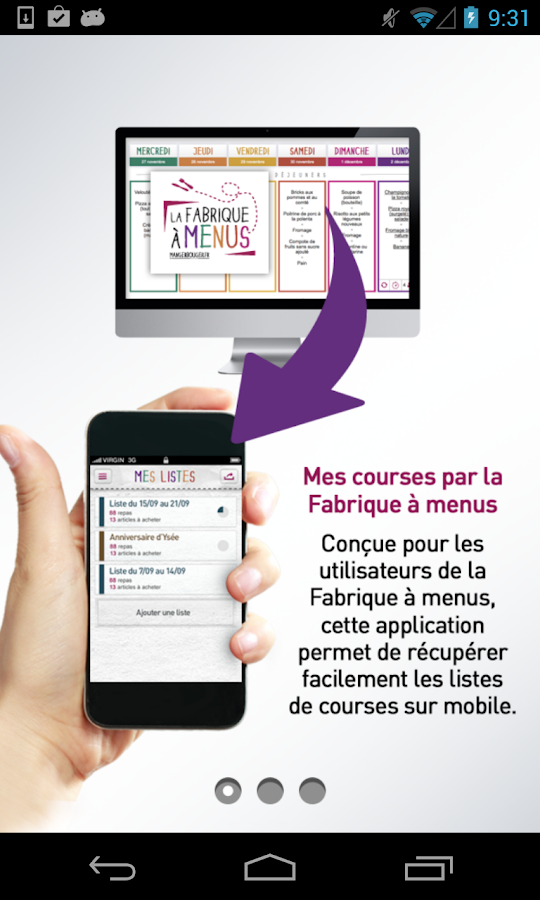 Mes courses - Fabrique à menus- screenshot