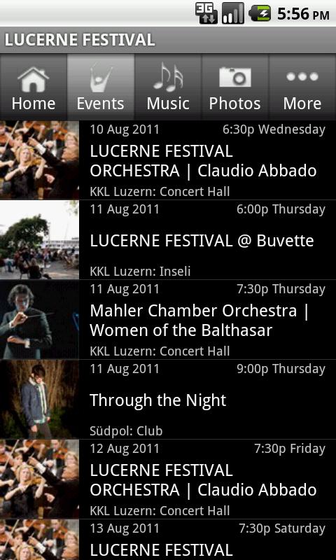 LUCERNE FESTIVAL - screenshot