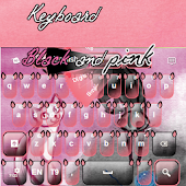 Keyboard Black and Pink