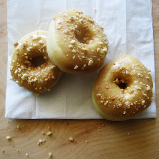 Peanut Butter Glazed Baked Doughnuts