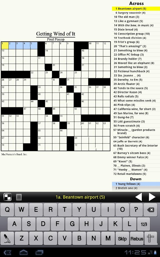 Crossword Light - screenshot