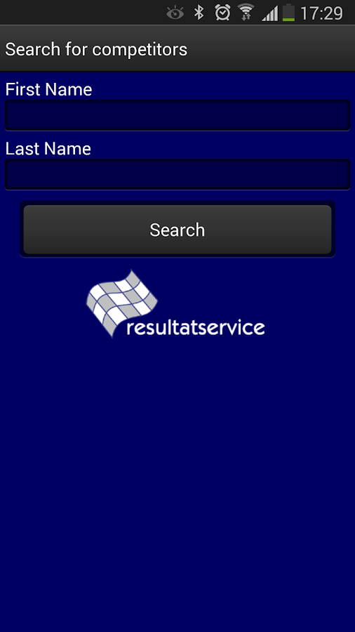Resultatservice- screenshot