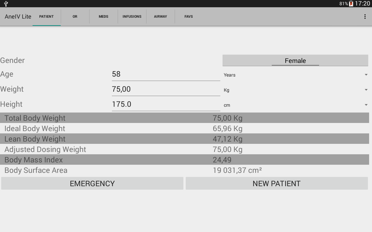 AneIV the Anesthesia Aid- screenshot