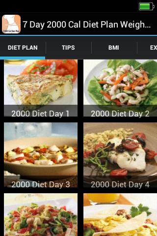 2000 Cal Diet Plan Weight Loss
