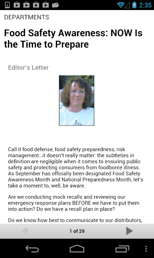 Food Safety Magazine- screenshot