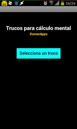 Trucos cálculo mental