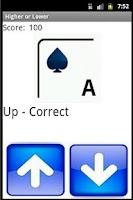 Screenshot of Higher or Lower