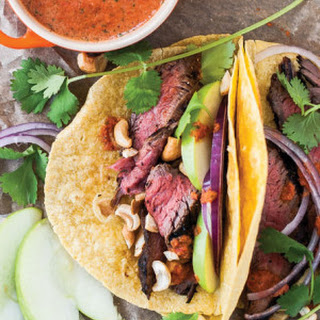 Steak Tacos with Apples & Cilantro