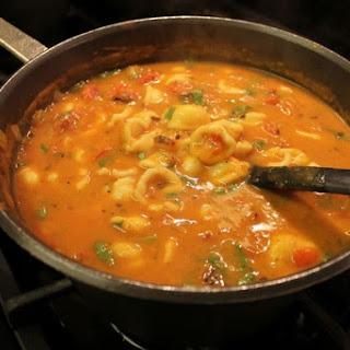 Lazy Manicotti Soup.