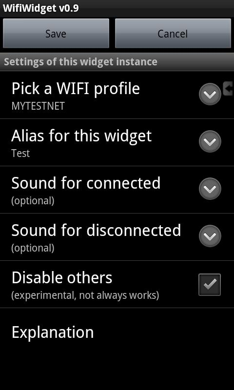 Multi Wifi Widget - screenshot