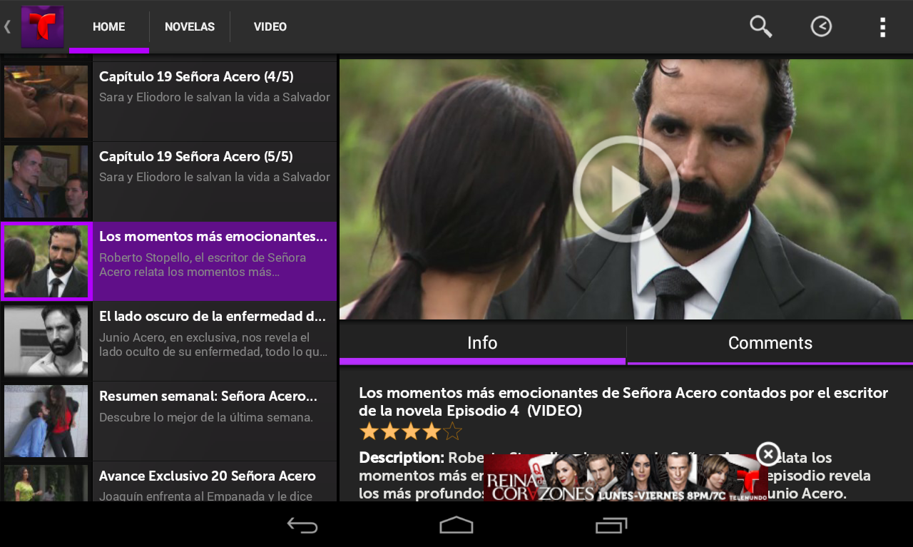 Telemundo Novelas - screenshot