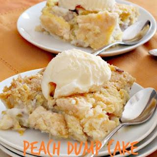 Peach Dump Cake Cobbler.