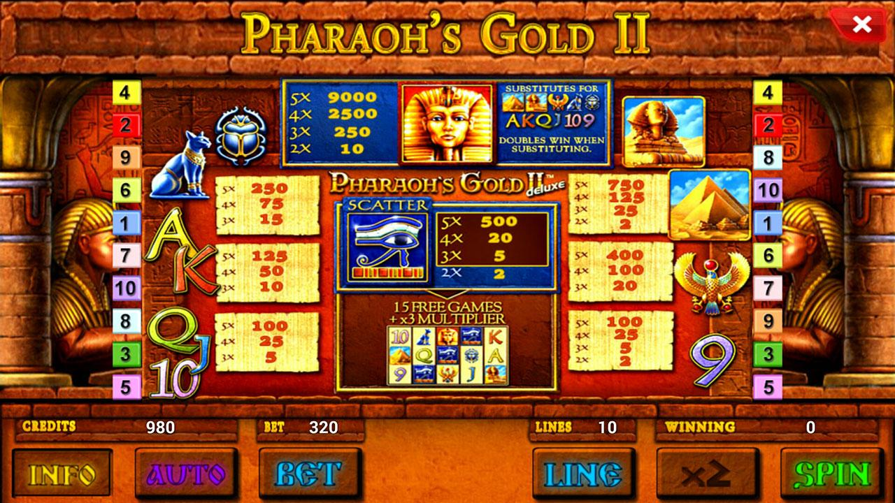 pharaohs gold slot game