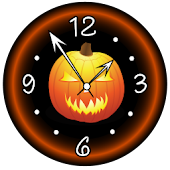 Dark Halloween Clock HD