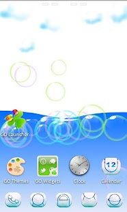 Cloud 3D Theme GO Launcher EX - screenshot thumbnail