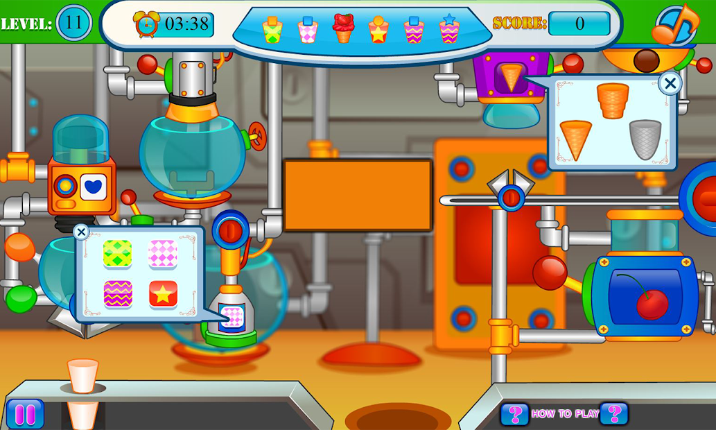 Ice cream and candy factory Android App Screenshot