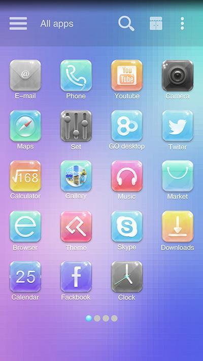 Gemstone GO Launcher Theme - screenshot