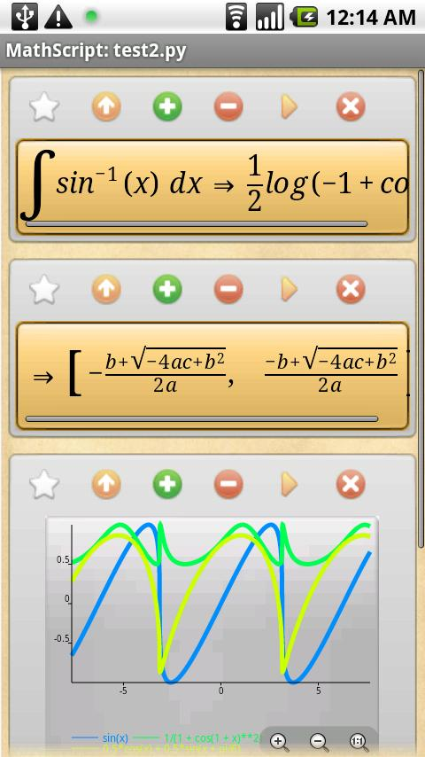 MathScript Scientific Calc- screenshot