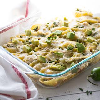 Cheesy Chicken & Jalapeno Stuffed Pasta Shells.