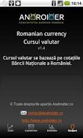 Screenshot of Romanian currency