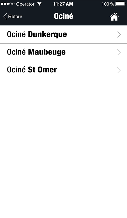 Ociné- screenshot