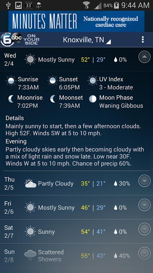 Knoxville Wx- screenshot