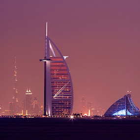 Burj Al Arab by Yadi Kustiadi - City,  Street & Park  Night ( dubai )