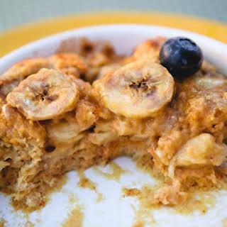 Banana Peanut Butter Bread Pudding.