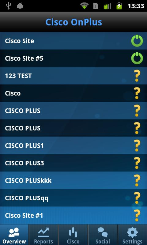 Cisco OnPlus Mobile - screenshot